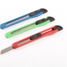 Нож канцелярский лезвие-9мм #10199