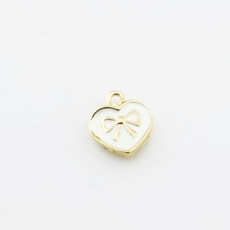 Подвеска Сердце с бантиком #1150