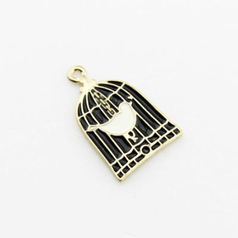 Подвеска Птица в клетке #1172