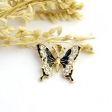 Подвеска бабочка со стразами #5042