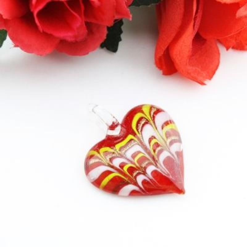 Кулон Lampwork Сердце #1074