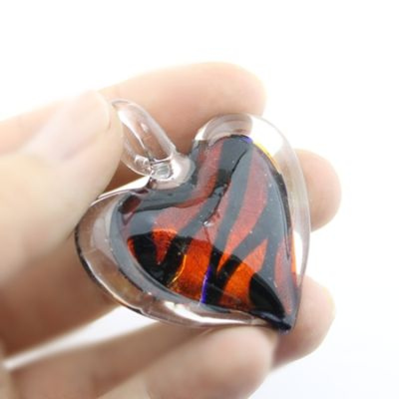 Кулон Lampwork Сердце #1077