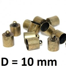Концевики D=10 Бронза #2190