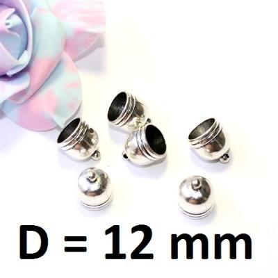 Концевики D=12 Серебро #2743