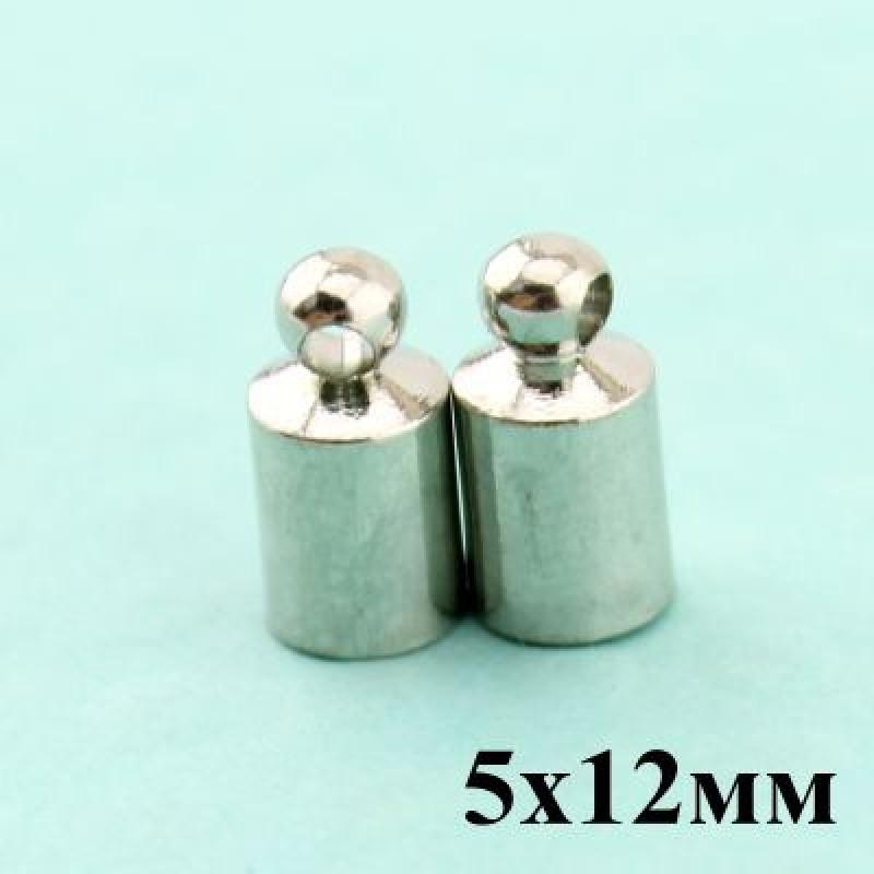 Застежка Магнитная 5х12 (пара)  #3776 Серебро
