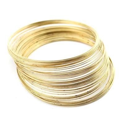 Основа для браслетов 60х0,5 (5 витков) #4167 Золото