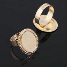 Основа для кольца 14*18мм Золото #5855