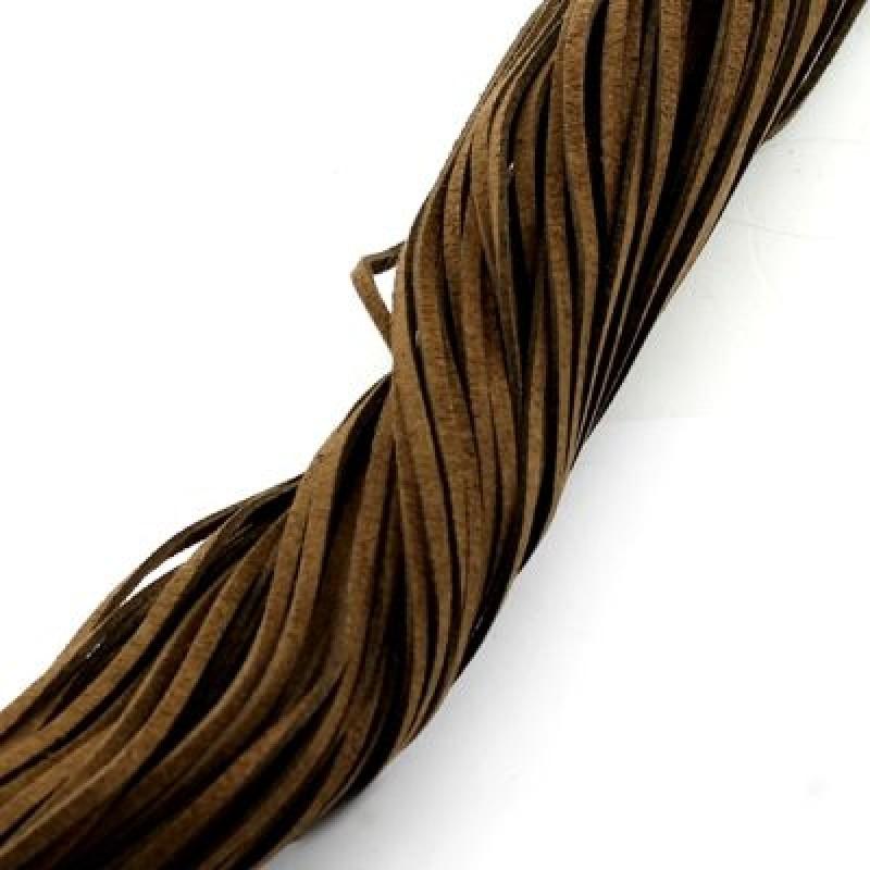 Шнур замшевый 2,5х1,5мм 1 метр #2680