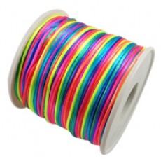Шнур тканевый 2мм 1 метр Разноцветный #5807