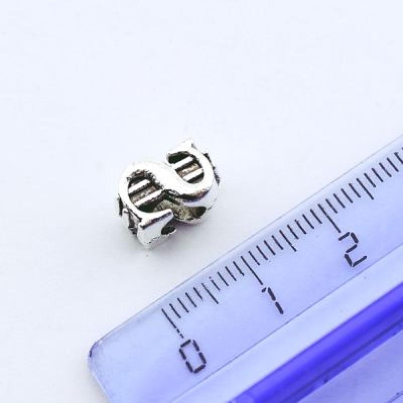 Металлический шарм Доллар 11х8х6 D=5 #1336
