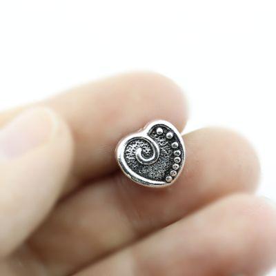 Металлический шарм Сердце 11х10х9 D=6 #1339