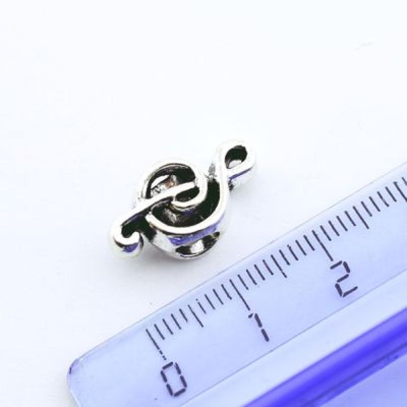 Металлический шарм Скрипичный ключ 18х10х8 D=5 #1344