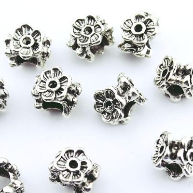 Металлический шарм Цветы 10х9х12 D=5 #1349