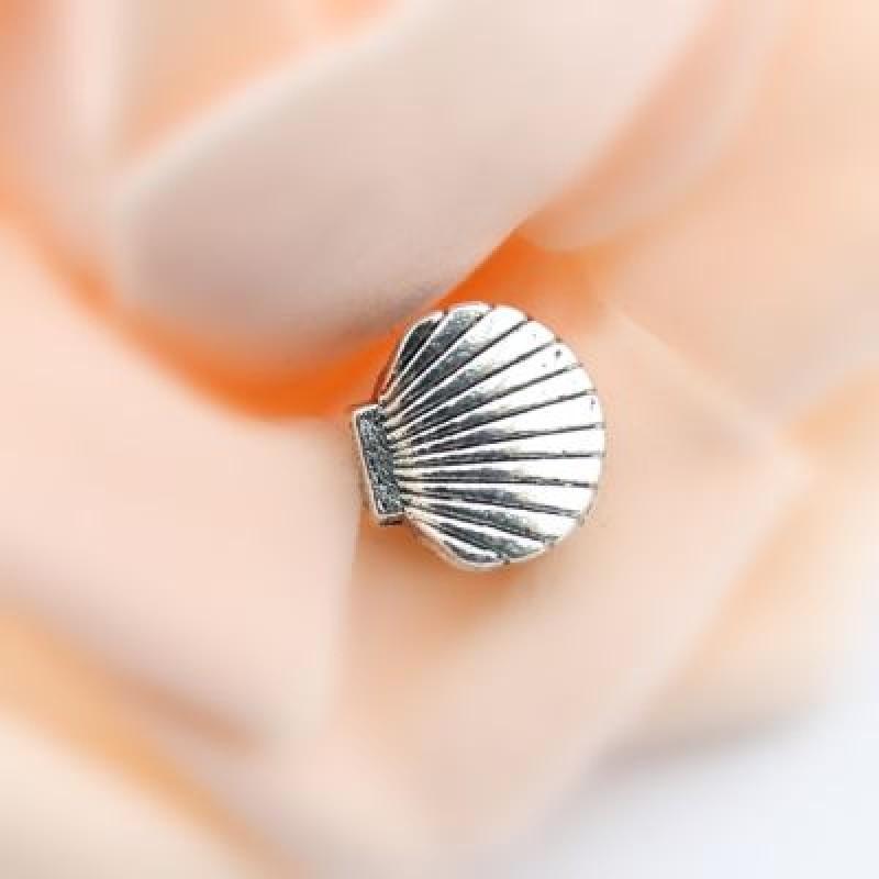Металлический шарм Ракушка 11х10х8 D=5 #1351
