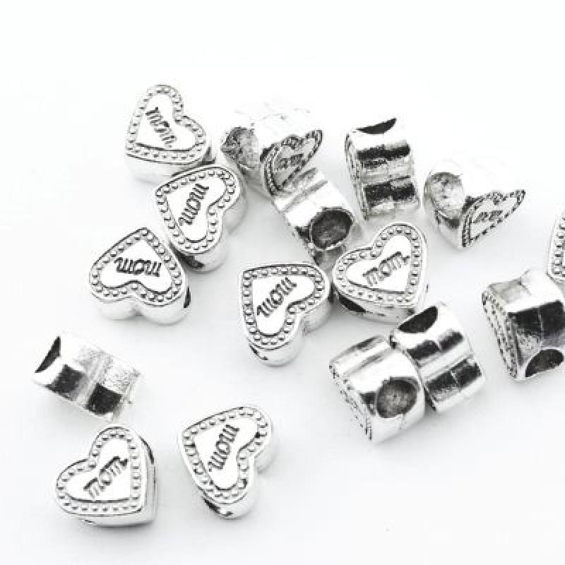 Металлический шарм Сердце 11х9х6 D=5 #1398