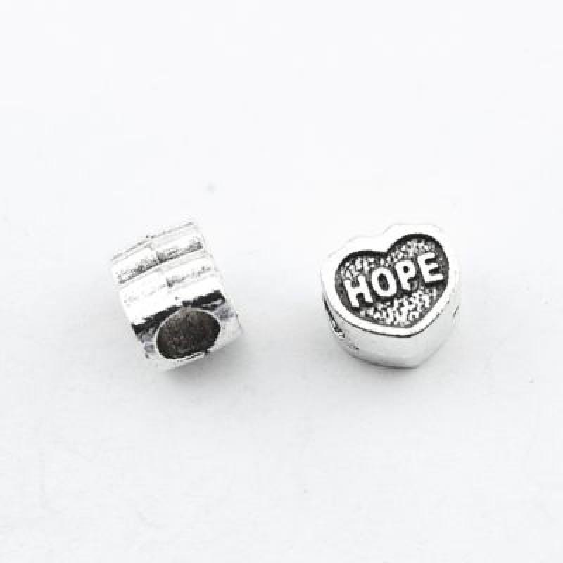 Металлический шарм Сердце HOPE 10х9х8 D=5 #1400