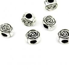 Металлический шарм Роза 10х13х8 #3164