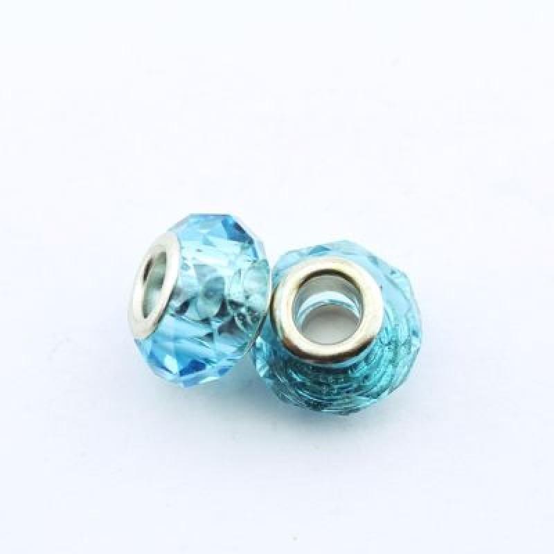 Стеклянный шарм 13х8 D=5 #1410