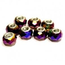 Стеклянный шарм Фиолетовый #5218
