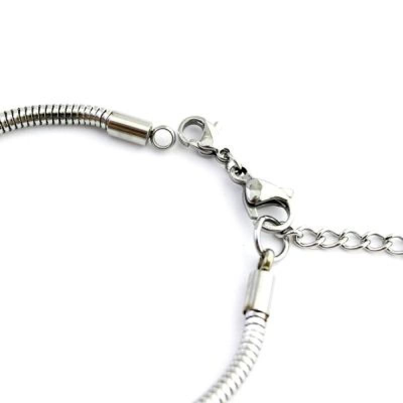 Металлический браслет 2 лобстера #5211