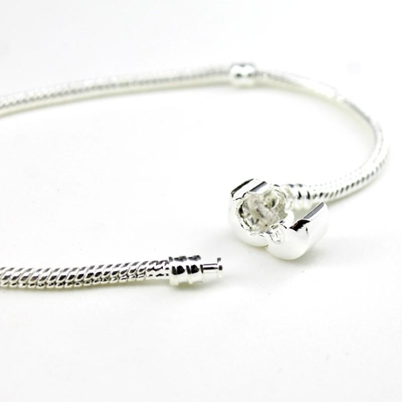 Металлический браслет 20х3 серебристый #5242