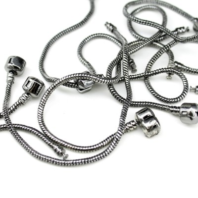 Металлический браслет 19х3 черный #5246