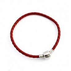 Кожаный браслет Красый #5208