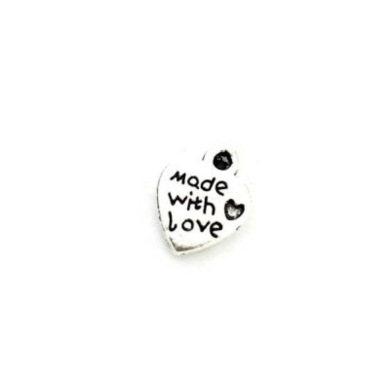 Подвеска Made with love 12х10 #3890