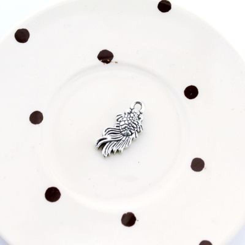 Подвеска Серебряная рыбка 18х8 #3901