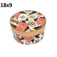 Коробка Круглая Карты 18х9 #10537