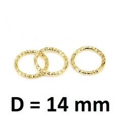 Колечки соединительные декоротивные D=14мм, 1шт #2705