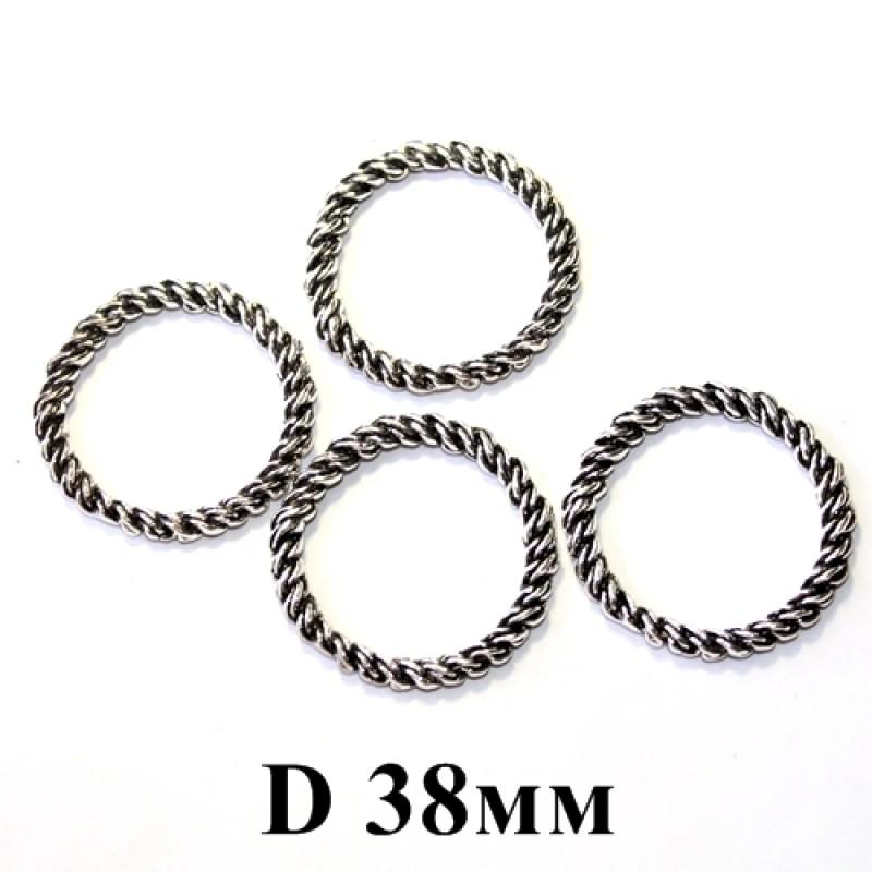 Плетёное кольцо D=38, 5мм #5285