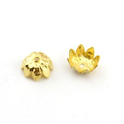 Шапочки 6х4 1 гр (13 шт) Золото #4902
