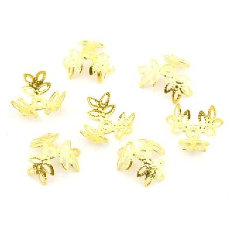 Шапочки 14х5 1гр (6 шт) Золото #4904