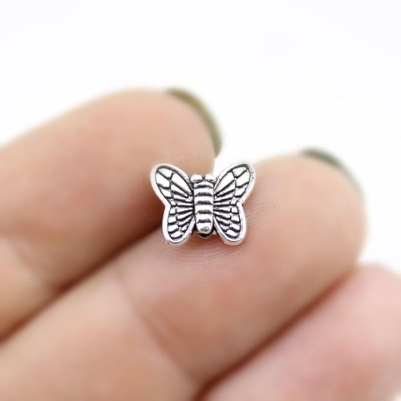 Бусины Бабочка 10х9х3, 1шт #2999