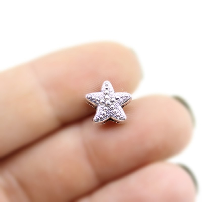 Бусины Морская звезда 10х6, 1шт #3002