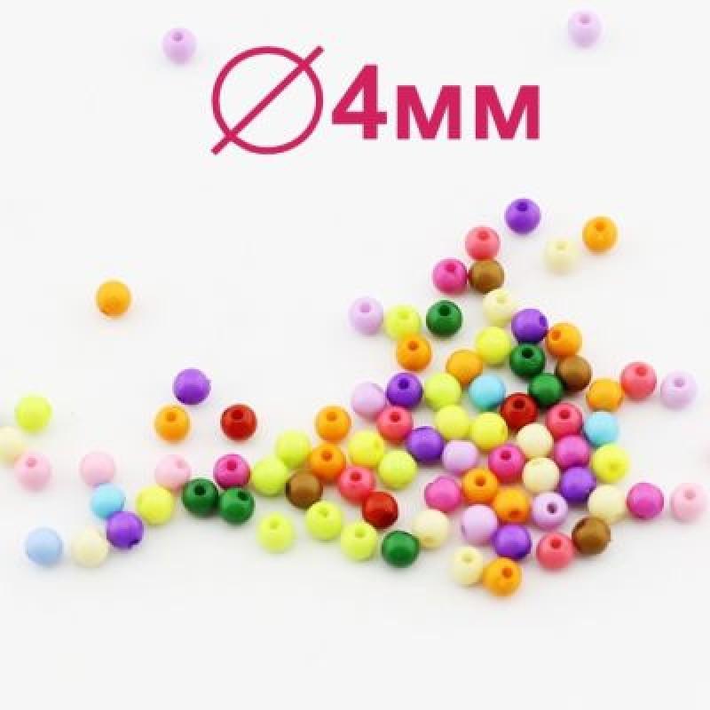 Бусины D=4, 1 гр (29 шт) МИКС #1838