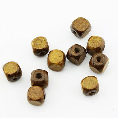 Бусины деревянные Квадратные D=9 мм 1 гр (2 шт) #1889