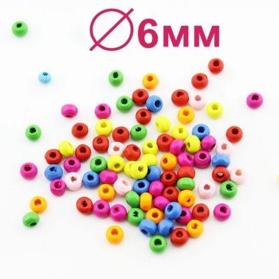 Бусины МИКС 4х6 D=6(5,5) мм 1 гр (23 шт) #1936