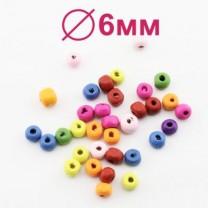 Бусины МИКС D=6 мм 1 гр (14 шт) #1989