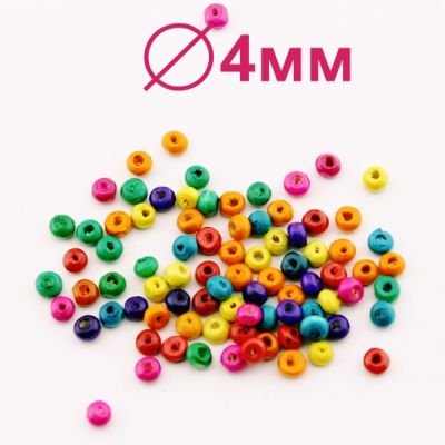 Бусины МИКС 3х4 D=4 мм 1 гр (45 шт) #2145