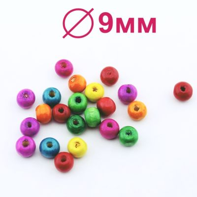 Бусины МИКС 7х9 D=9 мм 1 гр (6 шт) #2146