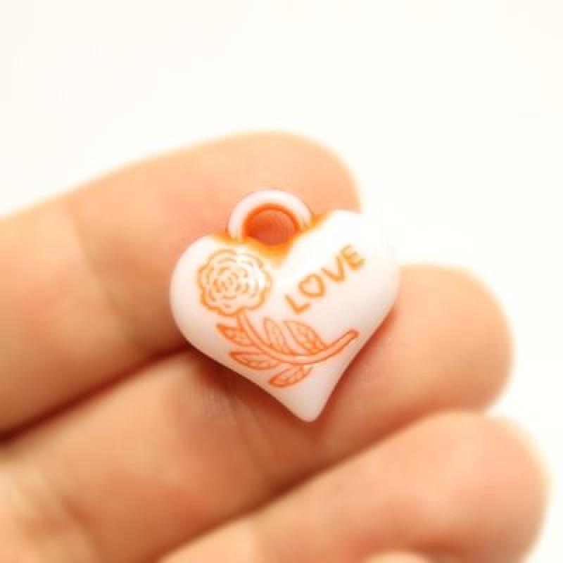 Подвеска Сердце Love МИКС #5169