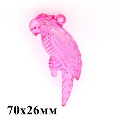 Подвеска Большой Попугай 70х26х15 МИКС #3649