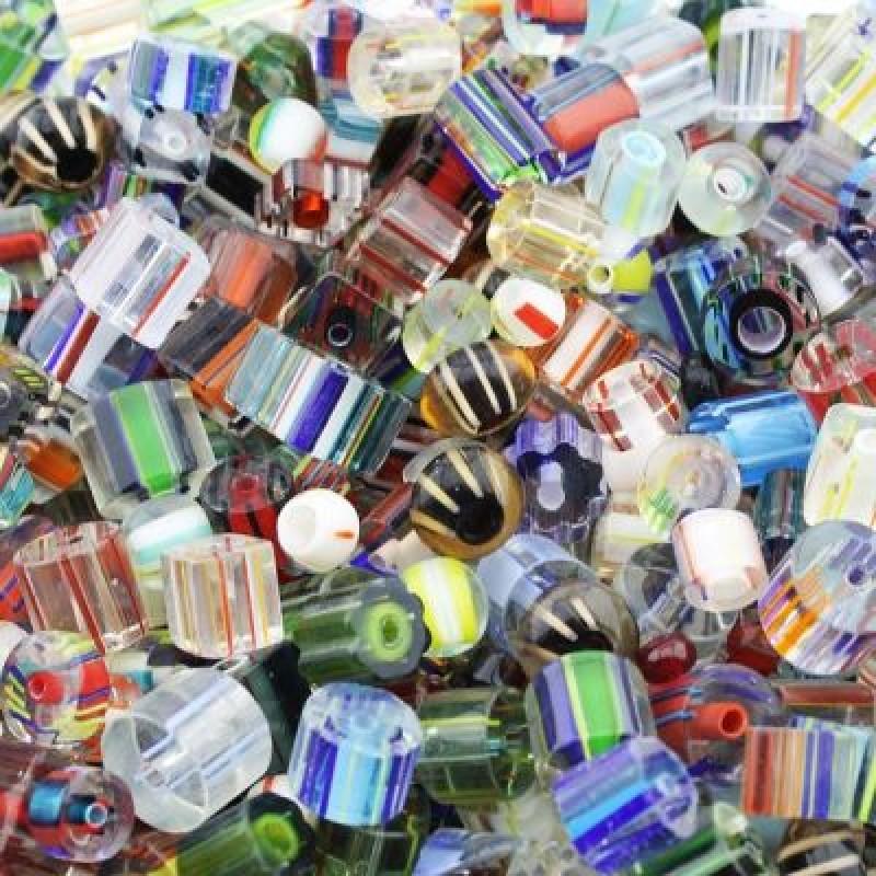 Стеклянные бусины МИКС Разноцветные 1 гр #1644