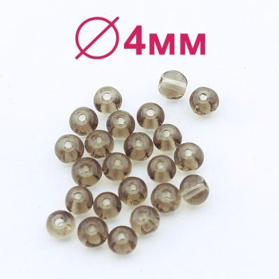 Стеклянные бусины Серые D=4 мм 20 шт #2446