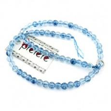 Стеклянные бусины Синие D=6, 1 нить #4519