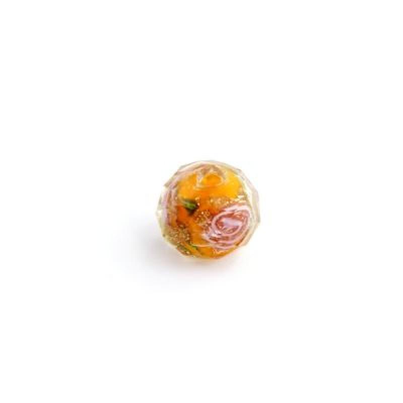 Бусины Lampwork Оранжевые 8х10, 1шт #5237