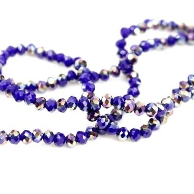 Стеклянные бусины D=3,2 Синие #10623