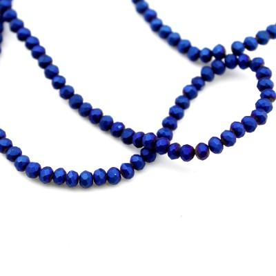 Стеклянные бусины D=3,5 Тёмно-синие #11569